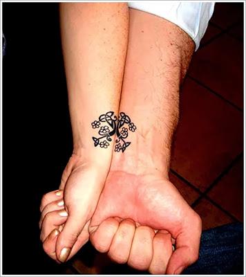 Tatuagens Românticas Que Se Completam Nos Casais Pretinho Básico