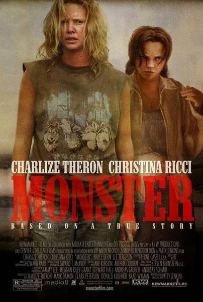 Charlize Theron estrelou neste filme de 2003, sobre Aileen Carol Wuornos, a assassina em série condenada.