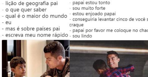 6f69472cc -Eu sou lindo né filho  Veja os melhores memes do Cristiano Ronaldo  vaidoso! - Pretinho Básico