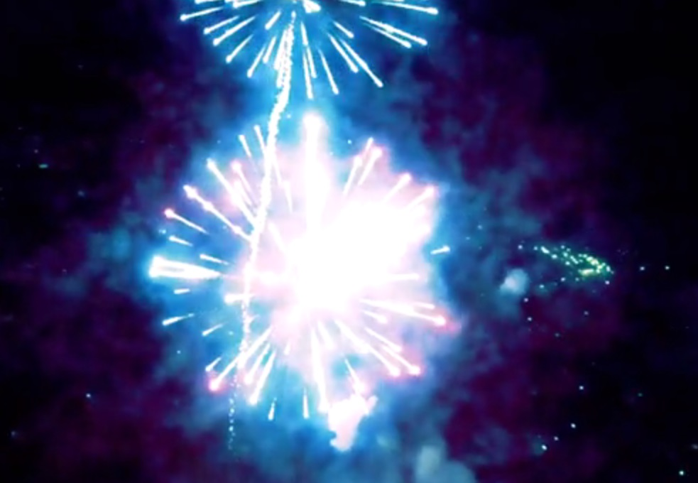 Fogos de artifício de perto