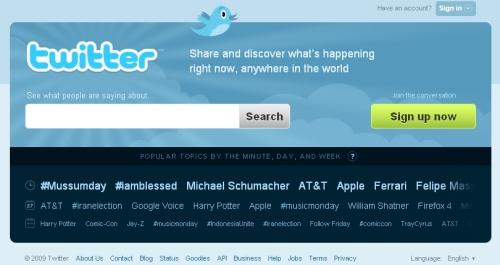 Nova página do Twitter, mais explicativa e menos descritiva/Reprodução