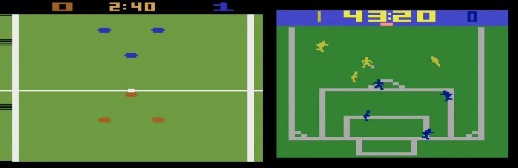Jogos de futebol no Atari
