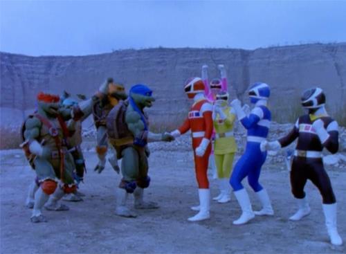 Resultado de imagem para power rangers e tartaruga ninja