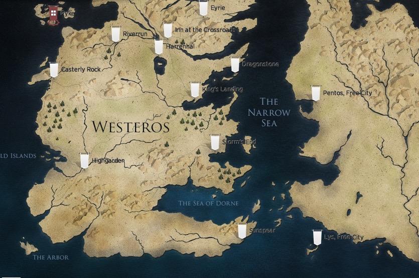 Um Cara Mostrou Como Seria O Mapa De Game Of Thrones No Google Maps