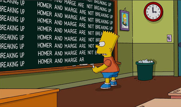 Bart-writing-on-chalkboard-Homer-and-Marge-are-not-breaking-up-583774