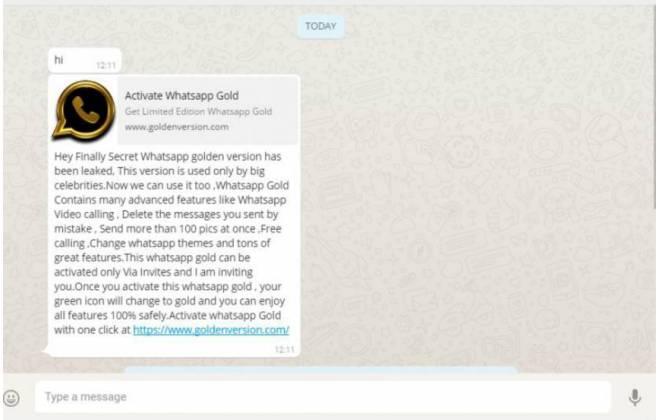 whatsapp gold infosfera