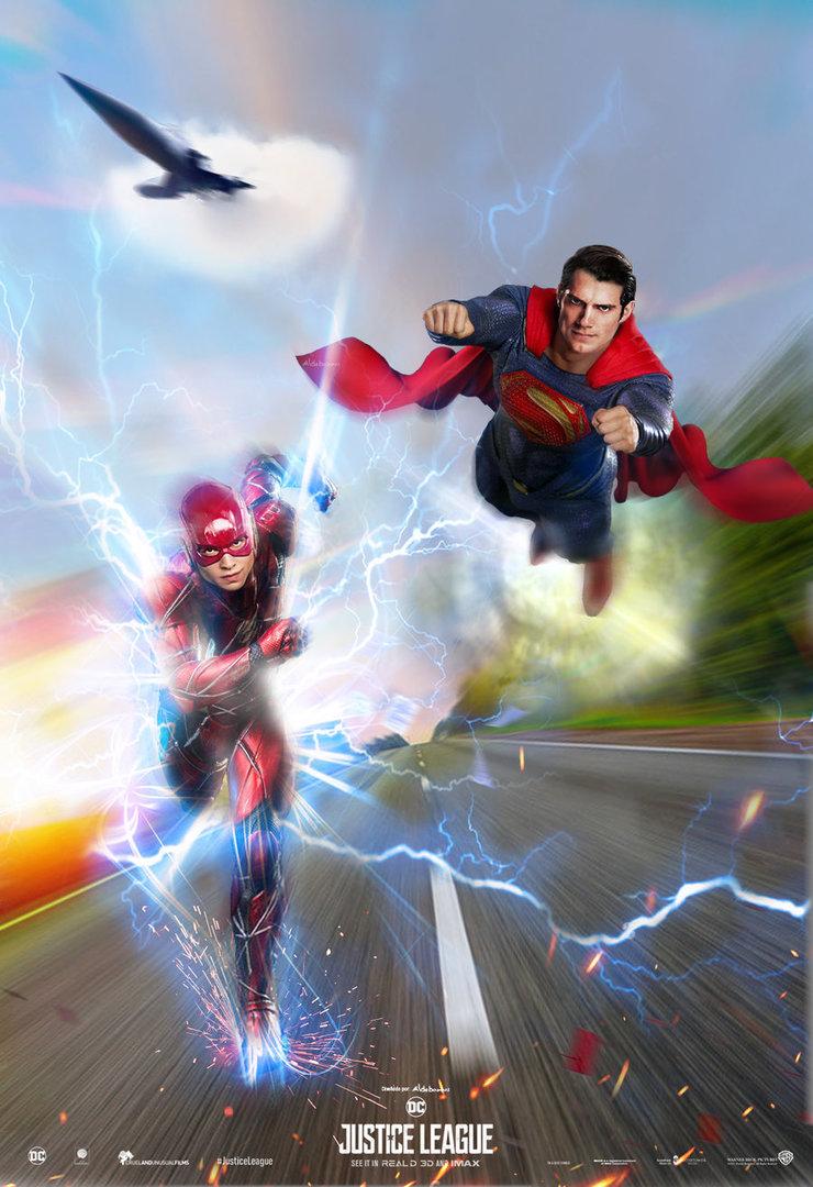 justice_league_poster___superman___the_flash_race__by_saintaldebaran-dbu7rjm