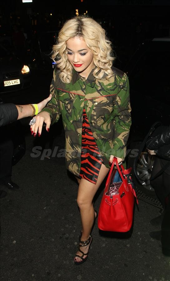 Rita Ora seen at Grimshaw's show at Radio 1 then going to Mahiki
