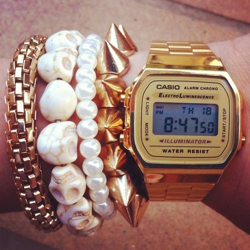 681cec655f0 Mix fashion  20 combinações com relógio Casio retrô - ATL Girls