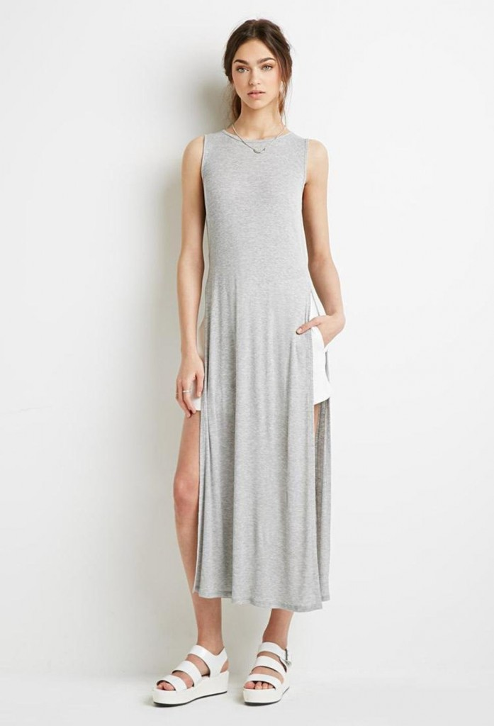 grey-forever21-high-slit-ribbed-maxi-dress-screen-697x1024