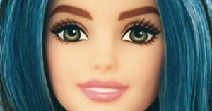 barbie cabelo azul